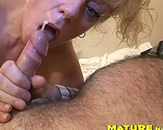 She loves her mouth full of fresh cum