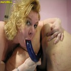 Horny chubby lesbians licking and playing