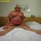 Horny big blonde mature fucking and sucking