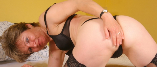 image Horny mature housewife and big handyman