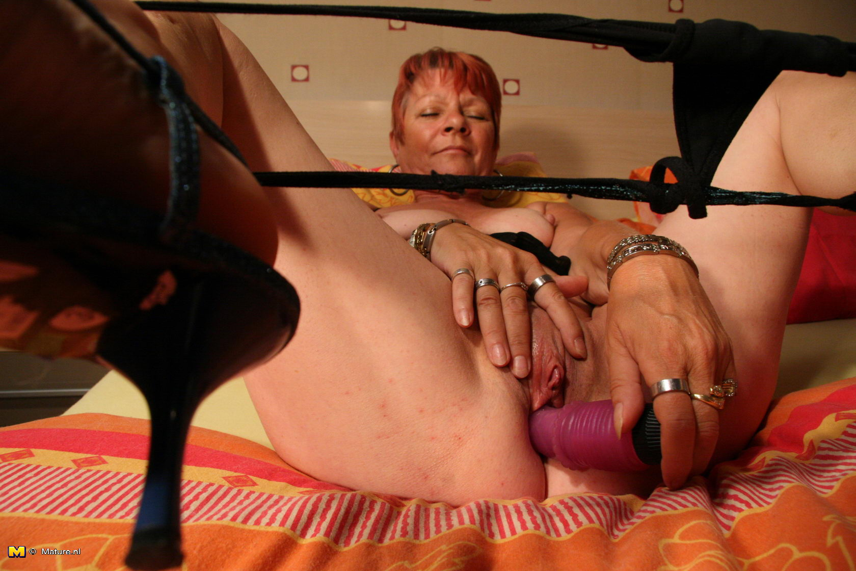 Doubt it. Mature granny getting fucked orgasm think