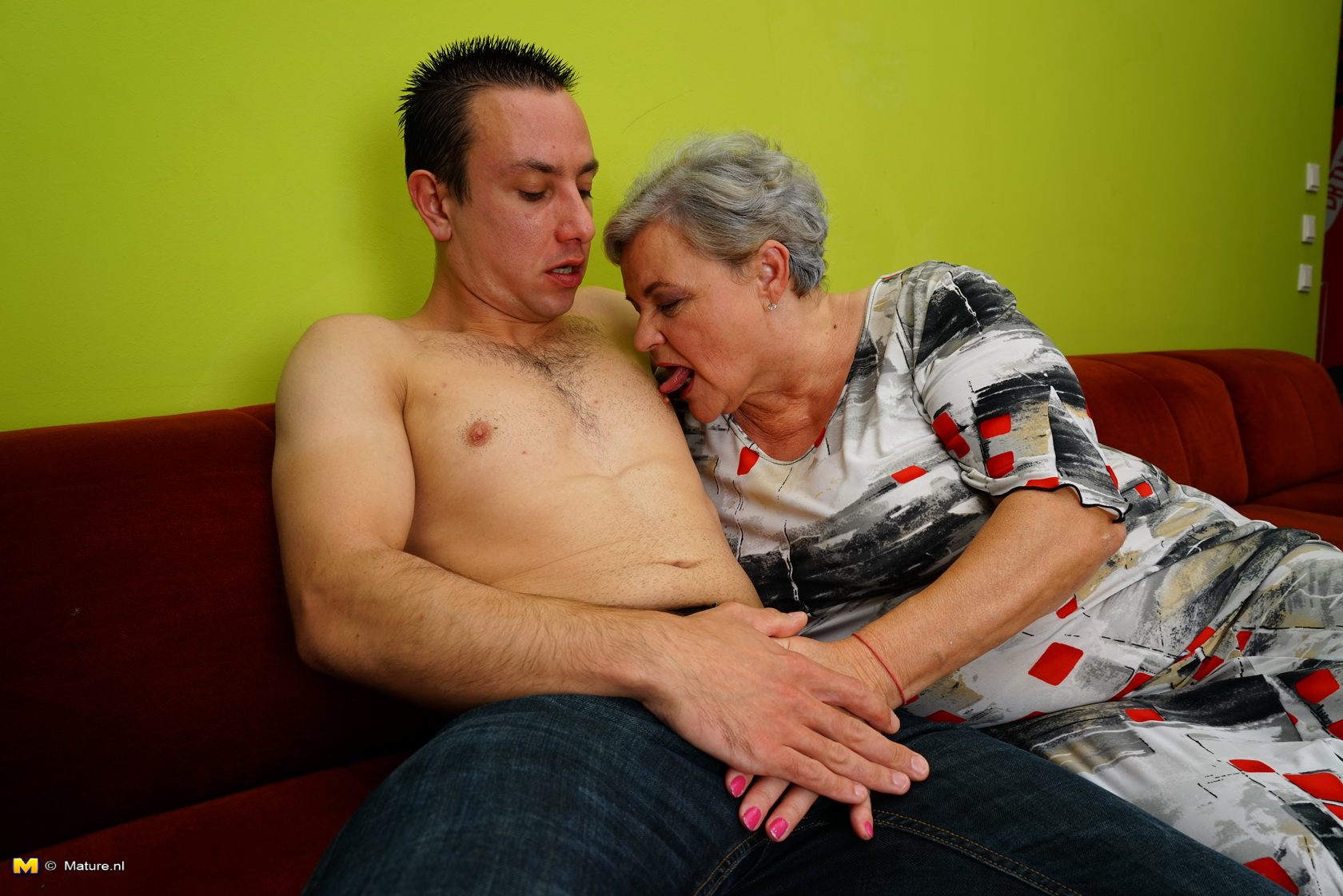 Mature woman and boy 7