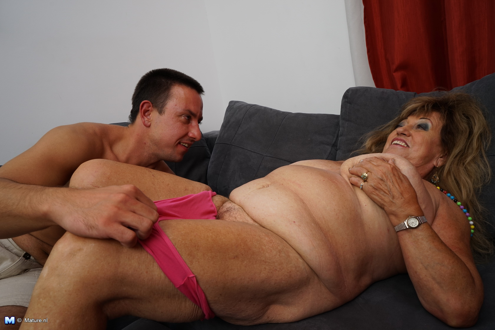 Chubby mature and boy