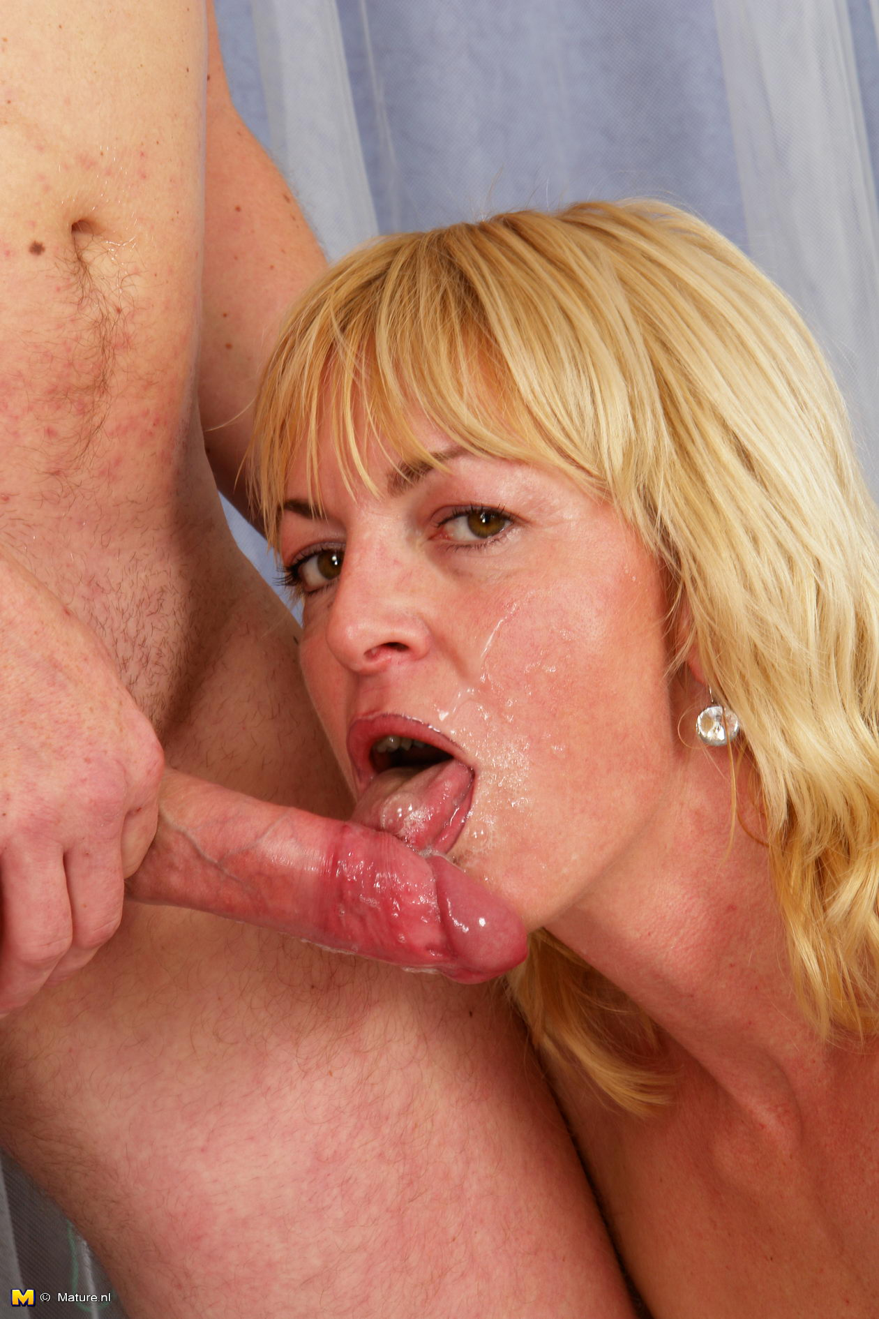 Horny lexi smashed by mature cock
