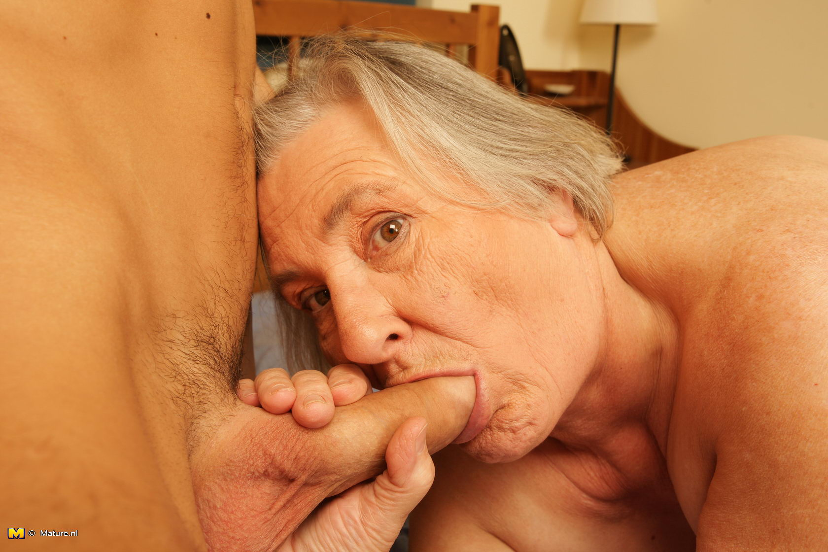 image Guy fucks sewing granny from behind