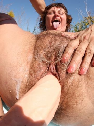 Hairy slut fucked in her wet snatch and ass 8