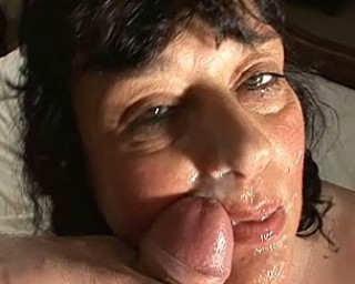 Horny housewife sucking that big hard cock till it cums
