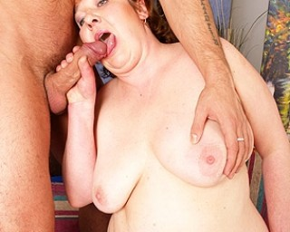 This old mama loves a hard cock