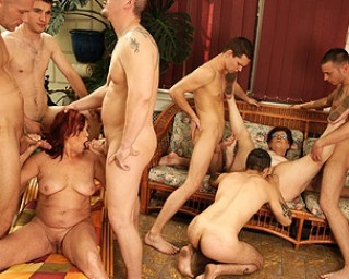 Mature mature two mature sluts getting fucked by a lot of guys